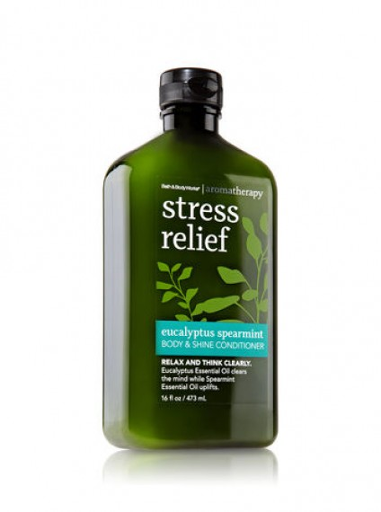 Bath and Body Works Stress Relief Antistress Eucalyptus Spearmint Body and Shine Conditioner