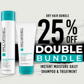 25 % off Instant Moisture Daily Shampoo and Instant Moisture Daily Treatment