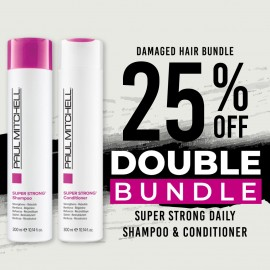 25 % off Super Strong Daily Shampoo and Super Strong Daily Conditioner