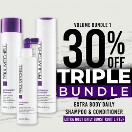 30 % off Extra Body Daily Shampoo Extra Body Daily Conditioner and Extra Body Daily Boost (Root Lifter)