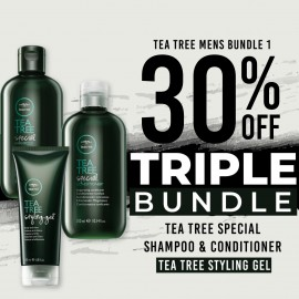 30 % off Tea Tree Special Shampoo  Tea Tree Special Conditioner and Tea Tree Styling Gel
