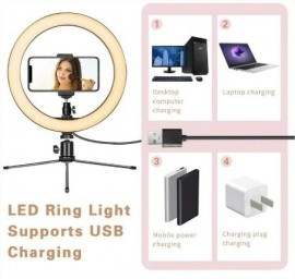 16 CM Professional LED Selfie Ring Light With Mini Tripod Stand