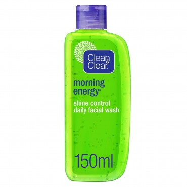 Clean & Clear Morning Energy Shine Control Daily Facial Wash Oil Free 150ml
