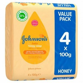 Johnson's Baby Soap With Honey Extract Bath Time 4 x 100g