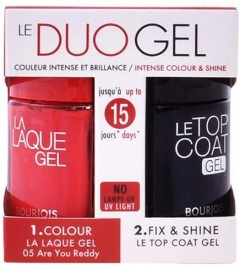 Bourjois Le DuoGel Laque and Coat Gel Set - 20 ml, 05 Are You Ready