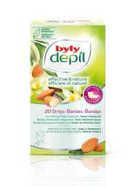 Byly Depil Almond Oil Hair Removal Face Strips 20pc