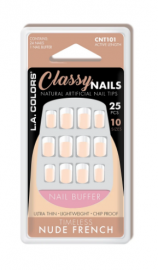 LA Color Classy Nail Tips - Timeless Nude French
