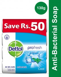 Dettol Soap 130 gm Cool Buy 4 soaps save Rs 50