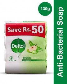 Dettol Soap 130 gm Soothe 4 soaps save Rs 50