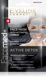 Eveline Facemed+ Face Mask Activated Carbon 2 x 5ml
