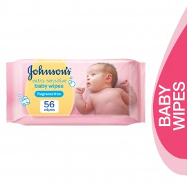 Johnsons Baby Ext Sens Wipes FF56