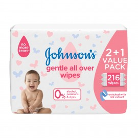 Johnson's Gentle All Over Wipes 72x3