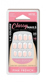 LA Color Classy Nail Tips - Perfect Pink French