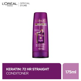 L'Oreal Paris Elvive Keratin Straight 72H Conditioner 175 ml - For Straight Smooth Hair