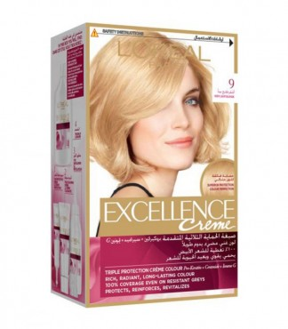 L'Oreal Paris Triple Protection Excellence Cream-9 Very Light Blonde