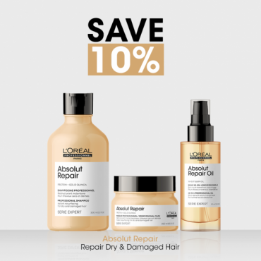 L'Oreal Professionnel Absolut Rapair 10% Off Bundle For Dry & Damaged Hair