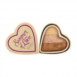 Makeup Revolution I Heart Makeup Blushing Hearts Bronzer Hot Summer of love