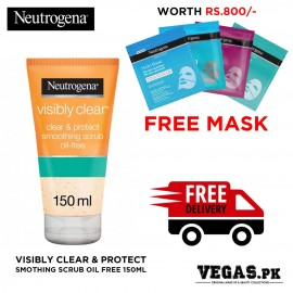 Neutrogena Visibly Clear & Protect Smothing Scrub Oil Free 150ml