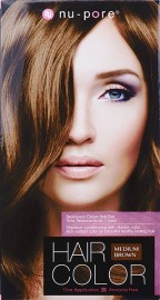 Nu-Pore Hair Color - Medium Brown
