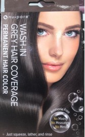 Nu-Pore Wash in Grey Hair Coverage Permanent Hair Color Dark Brown