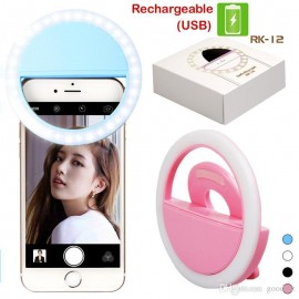 Rechargeable Selfie Ring LED Light For Mobile Phones