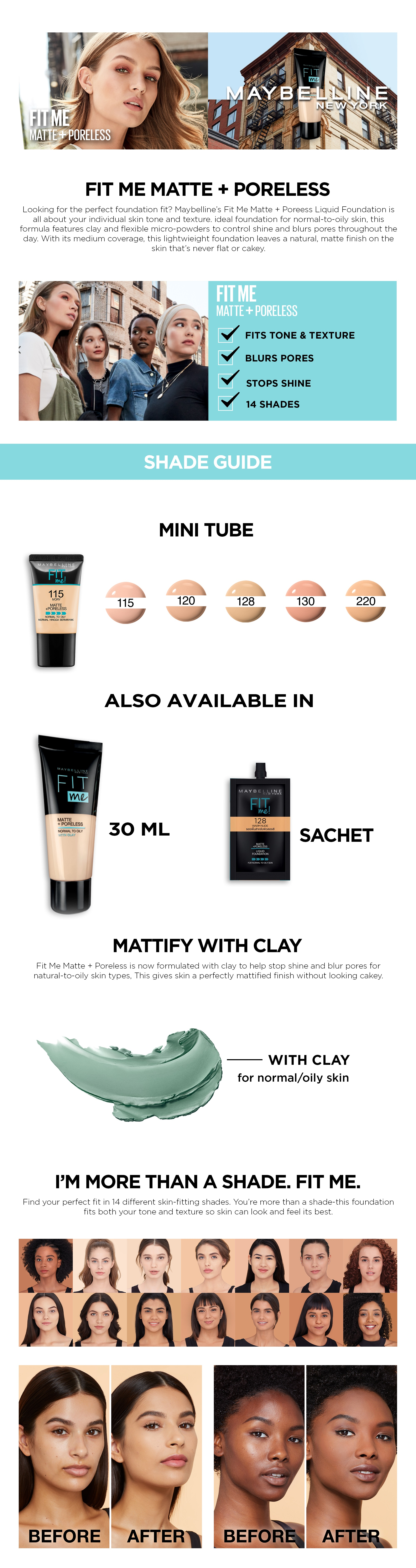 Maybelline Fit Me Matte Poreless Liquid Foundation 18ml In Pakistan Original With Money Back Guarantee